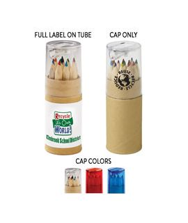 Colored Pencil Tubes with Sharpeners