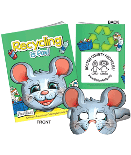 Recycling Is Fun Coloring Books With Mask