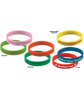 Silicone Wristbands - Debossed/Embossed