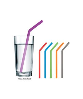Angled Silicone Straw