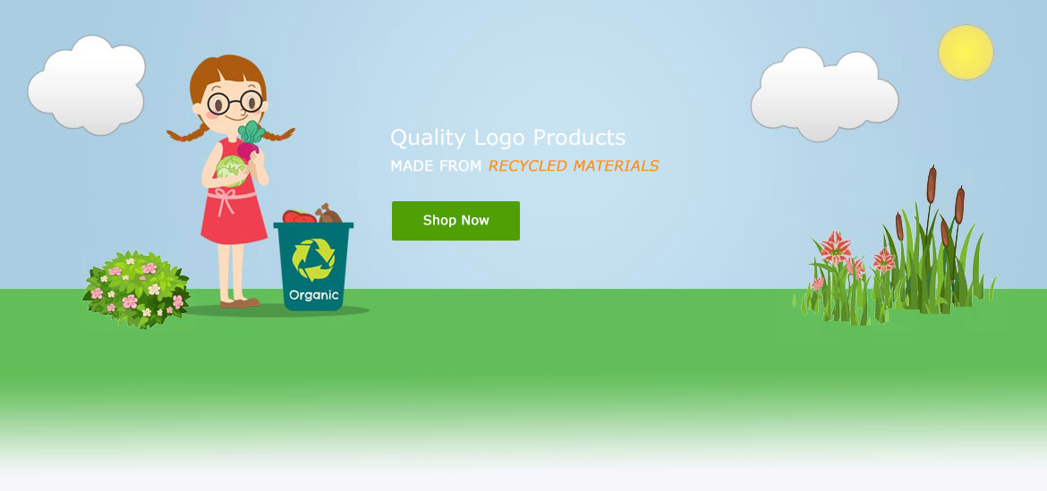 Girl with organic recycling